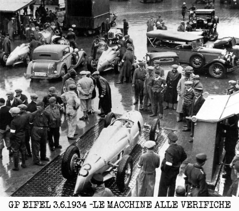 frecce d'argento, eifel, Mercedes,, 1934