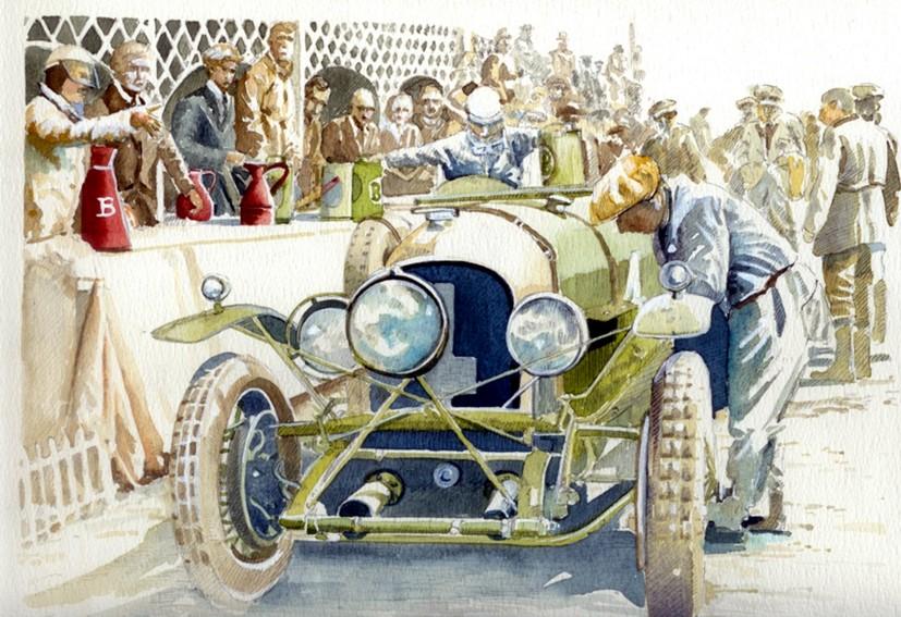 1928  4.5-litre-Bentley-at-Le-Mans-