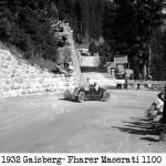 Fahrer Karrer (80) auf Maserati 1100 ccm
