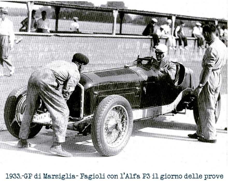 GP di Marsiglia 1933 Fagioli su Alfa Romeo P3 della Scuderia Ferrari