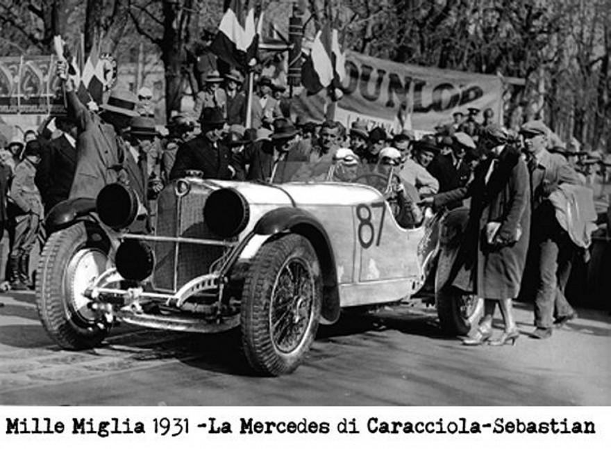 Mille Miglia 1931 Mercedes Caracciola Sebastian