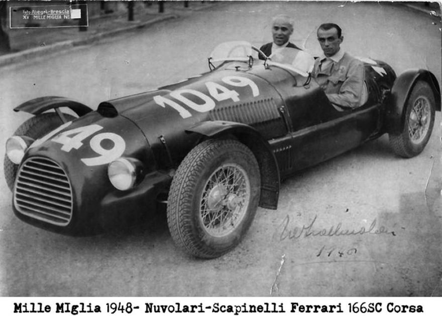 Nuvolari Ferrari Mille Miglia 1948