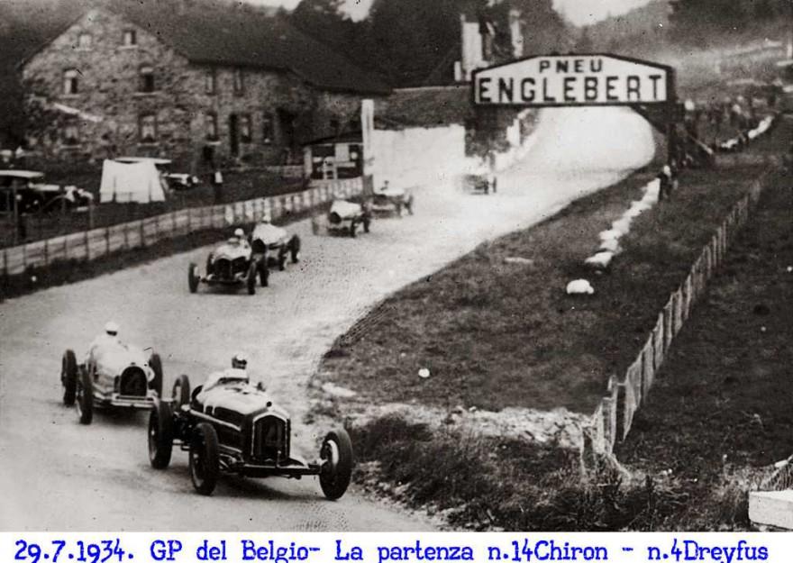 GP del Belgio 1934 la partenza