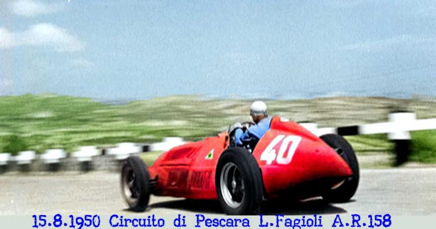 L'Alfetta di Fagioli conduce la corsa di Pescara che avrà un finale a sorpresa