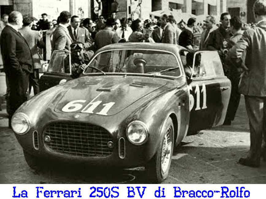 Bracco-Rolfo al via della Mille Miglia del 1952