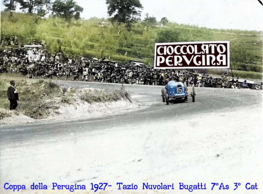 Nuvolari, Coppa della Perugina, Bugatti, Perugia, Circuito,