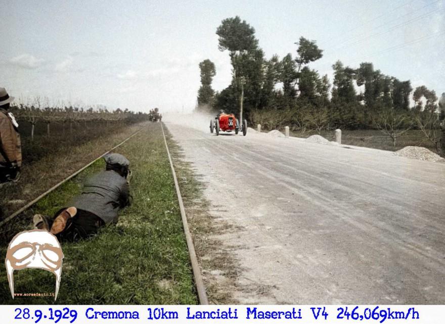 Maserati,V4,Cremona,record,10, chilometri, lanciati