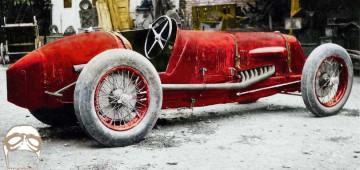 La Maserati V4 che si dice sia stata ritrovata dopo la guerra