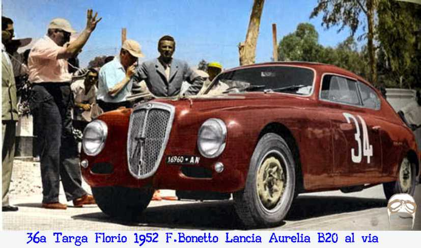 Bonetto, Lancia, Aurelia, B20, Fagioli, AN 16960, Targa Florio, Sicilia