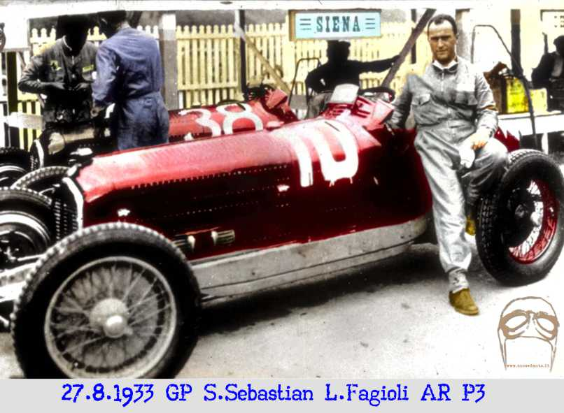 San Sebastian, Alfa P3, Fagioli, Alfa Romeo, Ferrari, Nuvolari