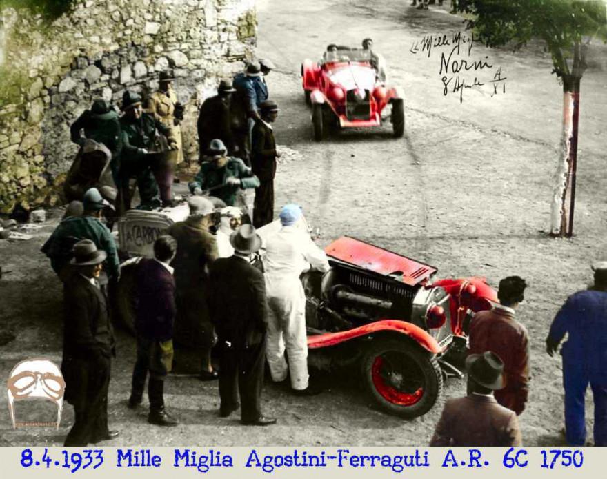 Mille Miglia, Alfa Roemo, 6C, 1750, Gasogeno, 1933