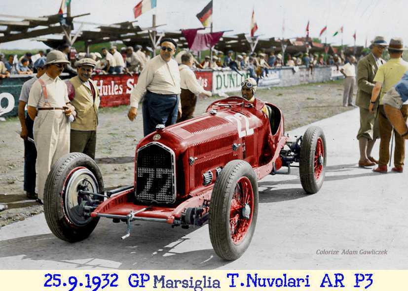 1932, Nuvolari, Sommer, Bugatti, pista, Miramas, Fagioli
